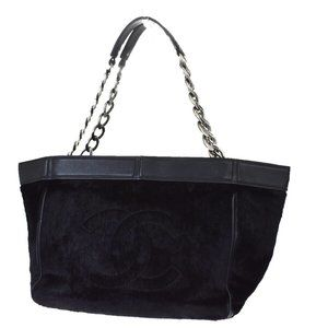 Authentic CHANEL CC Logo Chain Shoulder Bag Far